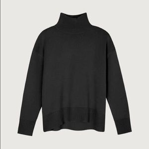 Oak+Fort black mock neck sweater